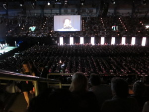 View from my seat at SCAD commencement 2015