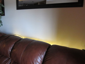 Back-lights behind the sofa