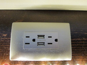 USB charging at the outlet!